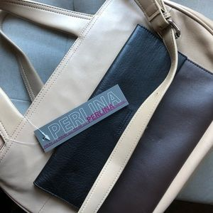 NWT Perlina Genuine Leather Tote Purse